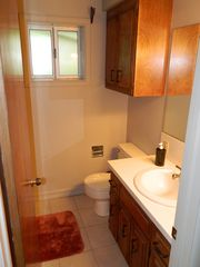 Lake Arrowhead cabin photo - the bunk room private bath with walk-in shower