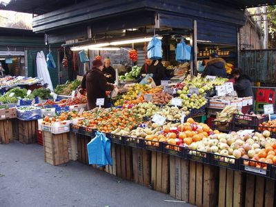 Rome's markets sell fresh produce, meats, fish, dairy, flowers, and wines