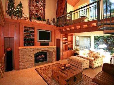 Great Entertainment System & Cozy Fireplace