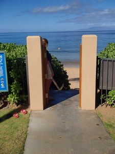 Use you key to open the gate to one of the best swimming beaches in Maui!