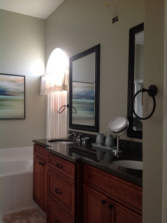 Master Bath, new light is now installed, new picture to follow