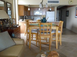 Indian Rocks Beach condo photo - The dining area, and fully equipped kitchen