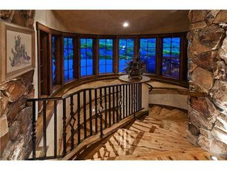 Park City chateau / country house photo - Gorgeous Wooden Stairwell