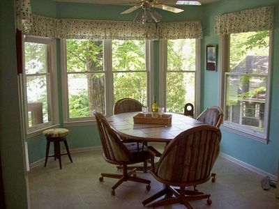 Dining Area w/Bay Window Overlooking Lake Lure