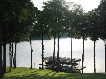 Moneta townhome rental - Panoramic lake views from all levels of the townhome! This view from the deck.