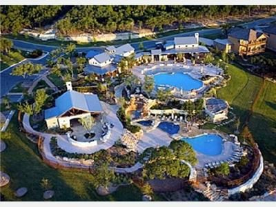 Jonestown condo rental - Arial view of The Beach Club at The Hollows.