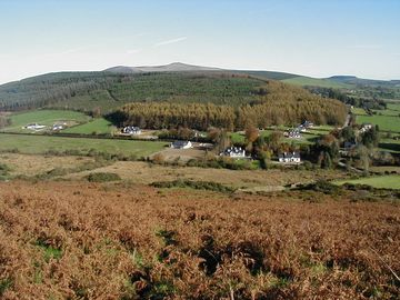 View from Anngh Hill overlooking house and Croghan