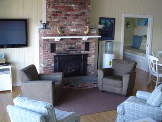 Hall Quarry cottage photo - Enjoy the fire or the 52 inch Plasma TV.