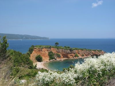Alonissos villa rental - View over Kokkinokastro beach