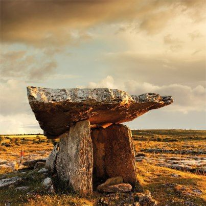 Poll na mBrón (Hole of Sorrows) an ancient portal tomb in the Burren,
