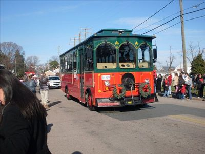 Town Trolley...25 cents for very interesting tour of Colonial Beach history!