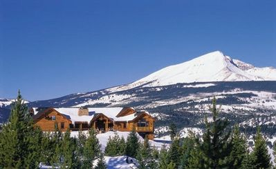 Mountain Cabin in Big Sky, Montana. View of Big Sky Ski area, Lone Mountain.