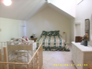 Angola house photo - Upstairs Guest Room with Vaulted Ceiling