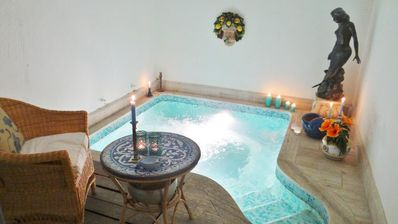 Villa in old park with private swimming grotto and thermal spring - green area