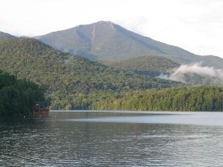 Lake Placid cabin photo - Whiteface Mountain from the deck.