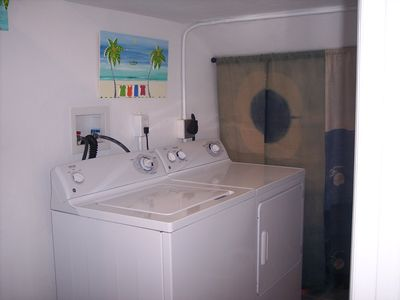laundry room in the apartment
