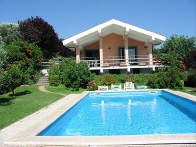 The villa and pool