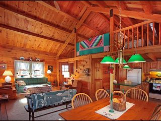 Lehighton cabin photo - Great Room and Loft