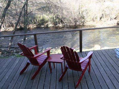 Carmel Valley cottage rental - Enjoy the surroundings from the deck.