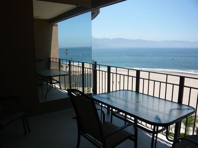 balcony with view towards Puerto Vallarta