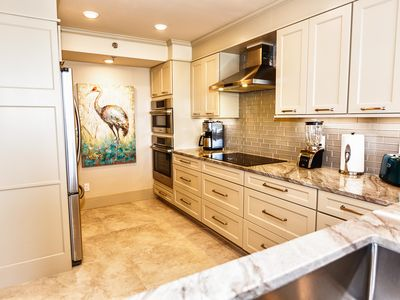 Our newly renovated kitchen with all new appliances.  Wow!