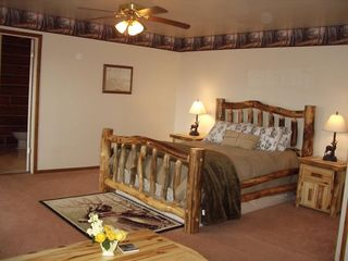 Heber City cabin photo - The master bedroom with master bath and jetted tub