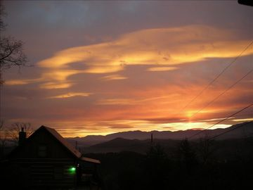 Pigeon Forge cabin rental - Sunrise view at the cabin,one of the most spectacular around!