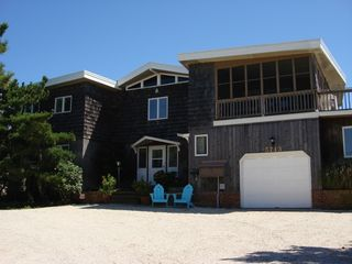 Plenty of off-street parking! Screened porch! - Brant Beach house vacation rental photo