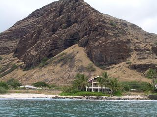 Makaha studio photo - Ocean view of Nalu Lani home. Suite is located in lower right corner