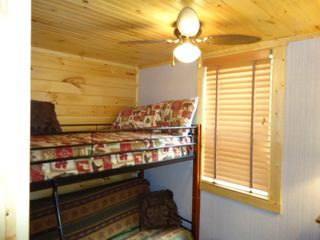 Bryson City cabin photo - Stand futon below with bunk bed above