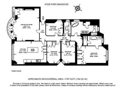 Floor plan of flat