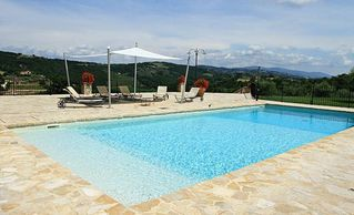 Collazzone farmhouse photo - Large pool and pool terrace