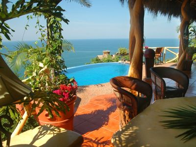 Sayulita villa rental - View from Cancion del Mar's Palapa