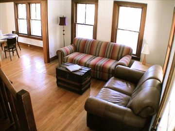 secondary family room with game consoles for kids