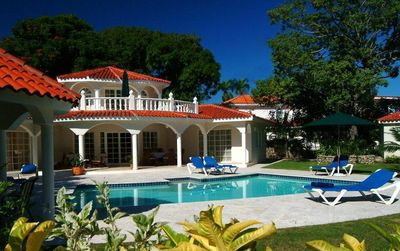 Puerto Plata villa rental - Rear view of villa w/private pool!