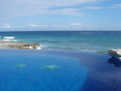 Enjoy the views from the infinity edge pool