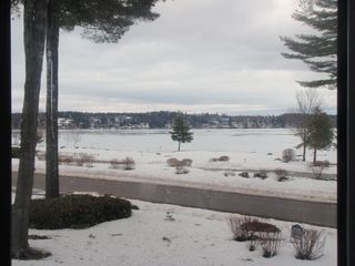 Laconia condo photo - Lake views in winter are beautiful.