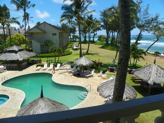 Kapaa condo photo - Pool shot from balcony.