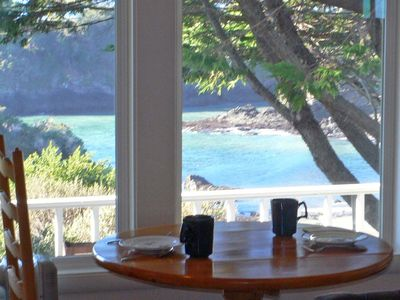 Mendocino house rental - Dining with a View