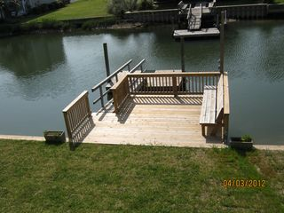 Holden Beach house photo - 16' stationary dock/deck
