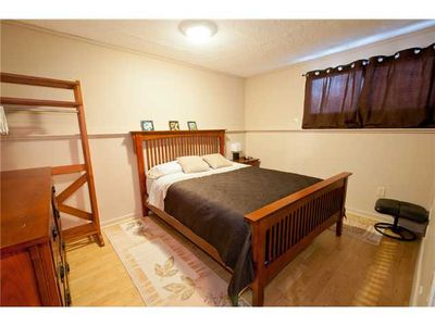 Calgary house rental - 4th bedroom on 3rd level, queen bed sleeps 2