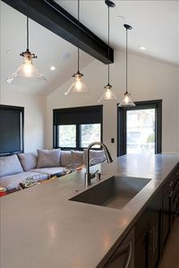 """Black"" Kitchen / Living Room"