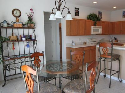 Remington Golf Club villa rental - Breakfast nook overlooking private pool and garden
