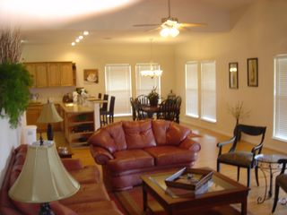 Corpus Christi lodge photo - Sitting Room with dining Room & kitchen