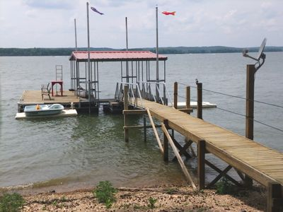 Your own private dock, boatslip, canoe, and paddleboat to use during your stay.