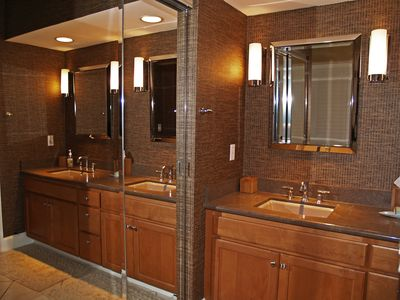 Two spacious and luxurious bathrooms -  both with walk in showers