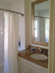 Huntington Beach cottage photo - Bathroom with shower and bathtub