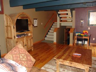 Steamboat Springs townhome photo - Large Livingroom with Kids games, Fireplace and Large Screen TV/DVD/DVR