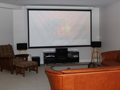 Saratoga Springs house rental - Theater downstairs