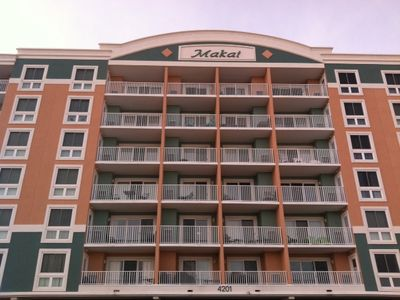The Makai with ample street parking that is right in front of building.